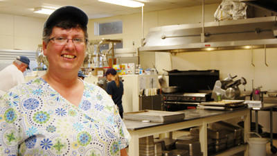 Laurie Brooke of Topinabee is the manager of the dining hall at the University of Michigan Biological Station in Pellston. The dining hall serves breakfast, lunch and dinner every day during its season, May through October. Maggie Peterson/Saturday