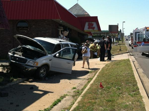 A multiple-vehicle wreck started at Sheridan Street and wound up ending at the Big Boy corner today,Friday, in Petoskey