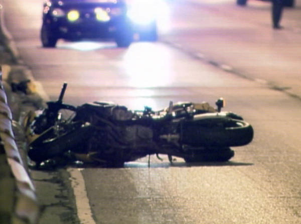 A motorcycle crash in 2010.