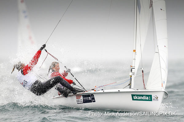 Amanda Clark, a 2005 graduate of Connecticut College, finished 12th in Beijing in 2008. She's back and competing in the 470, a 470-centimeter two-person Olympic class dinghy.