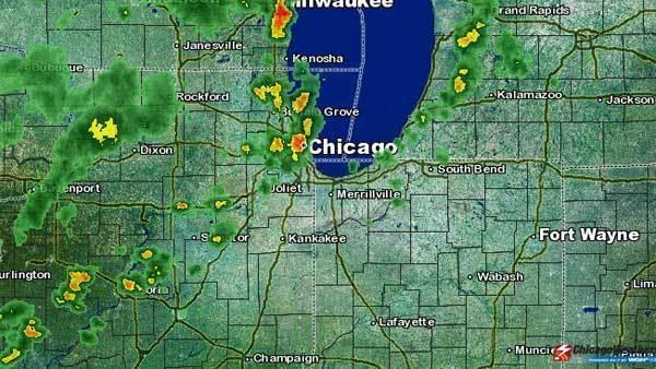 View of weather radar