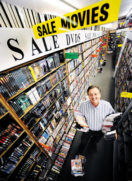 Chuck Roberts is owner of Wonder Book and Video in Hagerstown. The store is the only video rental store remaining in Hagerstown.