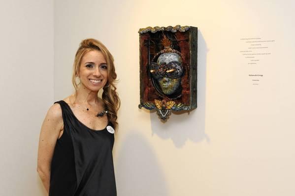 """Artist Deborah Gregg with her work """"Vesuvius."""""""