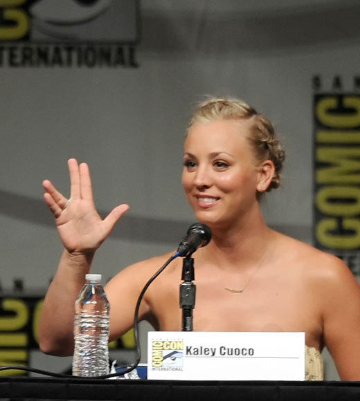 Celebs at Comic-Con 2012: Kaley Cuoco
