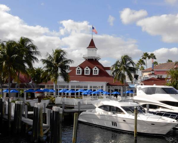 The view outside of Bimini Boat Yard