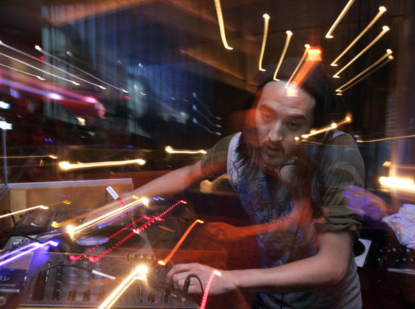 Local DJ Steve Aoki grossed $4.5 million from touring in the first half of 2012.