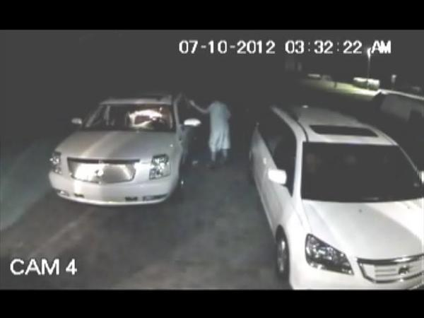 Detectives are using surveillance video to identify three burglars who rummaged through several unlocked vehicles in Parkland and stole $900