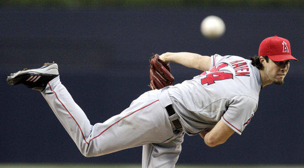 Dan Haren, pitching against the Padres in May, is a free agent after the Angels bought out his option for 2013.