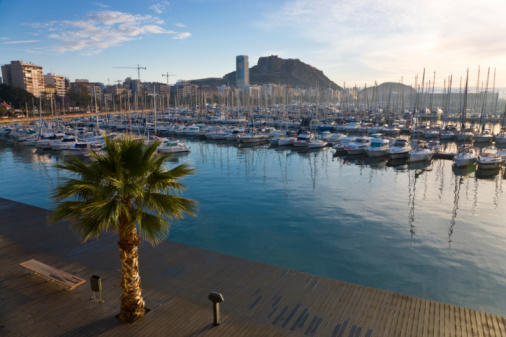"Province Capital of Costa Blanca Spain View over harbor to <a class=""taxInlineTagLink"" id=""PLGEO100100107010000"" title=""Santa Barbara (Santa Barbara, California)"" href=""/topic/us/california/santa-barbara-county/santa-barbara-%28santa-barbara-california%29-PLGEO100100107010000.topic"">Santa Barbara</a> castle."