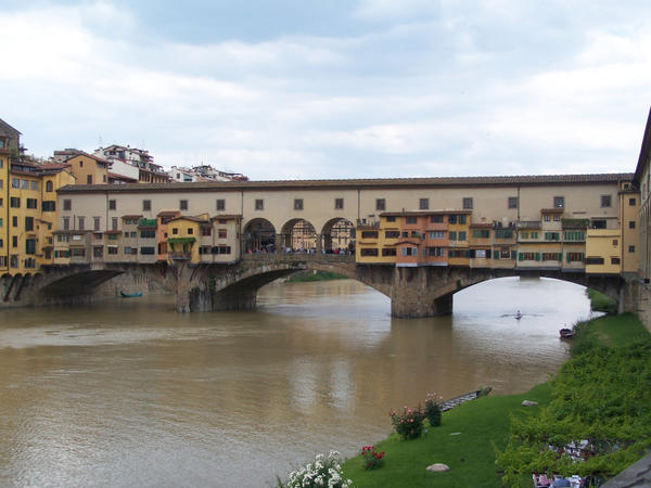 The Ponte Vecchio Bridge is a classic must-have photograph sight in Florence, Italy.