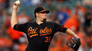 Orioles right-hander Jason Hammel left Friday night's game with a right knee injury.