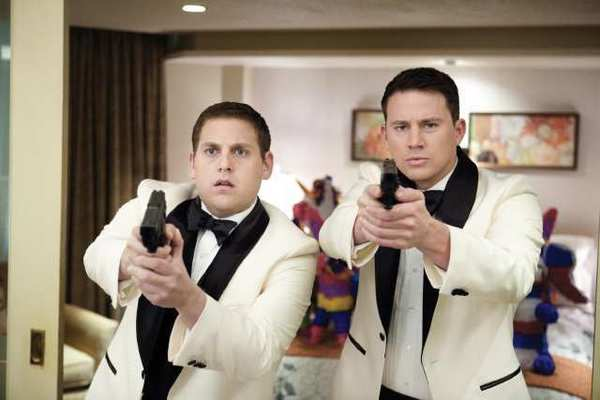 Rookie cops, played by Jonah Hill and Channing Tatum, go undercover as students to bust a high school drug ring in 21 Jump Street.