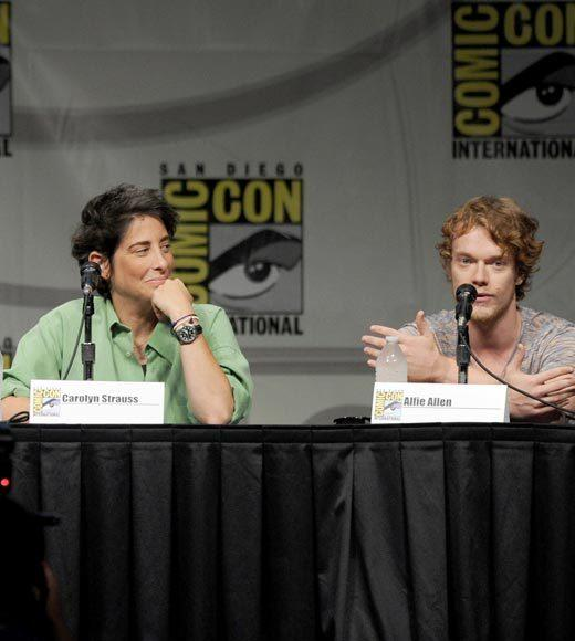 Overheard at Comic-Con 2012: Showrunners David Benioff and D.B. Weiss tried to prank Alfie by sending him a script in which Theon was killed by Bran Stark -- but Alfie was completely unphased. I thought it was amazing, what a great way to go.   When he didnt respond, they called him three weeks later, and he said Its cool guys, its your show. So they said, Weve got another thing for you -- how do you feel being a zombie? When that still didnt rattle Alfie, they asked, OK, how do you feel being a naked zombie without any dialogue whatsover? Thats when it finally clicked: OK youre having me on! -- Alfie Allen
