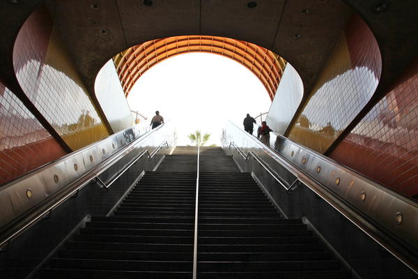 The North Hollywood Metro Station may become more crowded on weekends once the new curfew goes into effect.