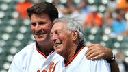 Jim Palmer is being honored with his sculpture today.