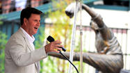 Pictures: Jim Palmer sculpture unveiling