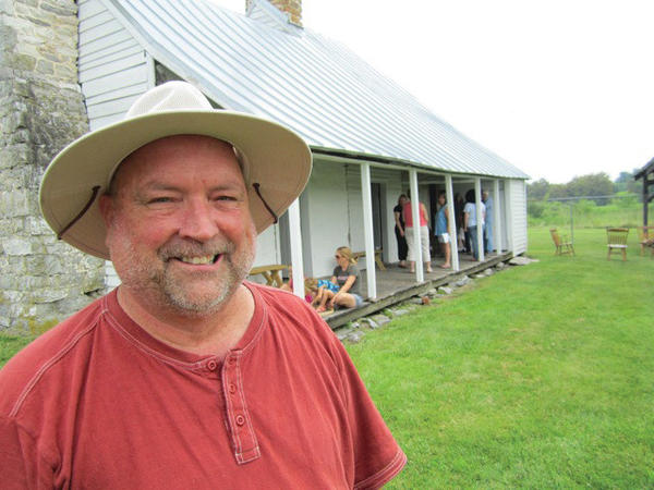 Allen McGarry Cassell of Mount Olive, N.C., a direct descendent of Peter Burr Sr., visited his ancestor's mid-18th-century home Saturday in Kearneysville, W.Va.