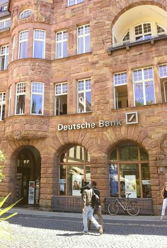 A Deutsche Bank branch in Weimar, Germany.