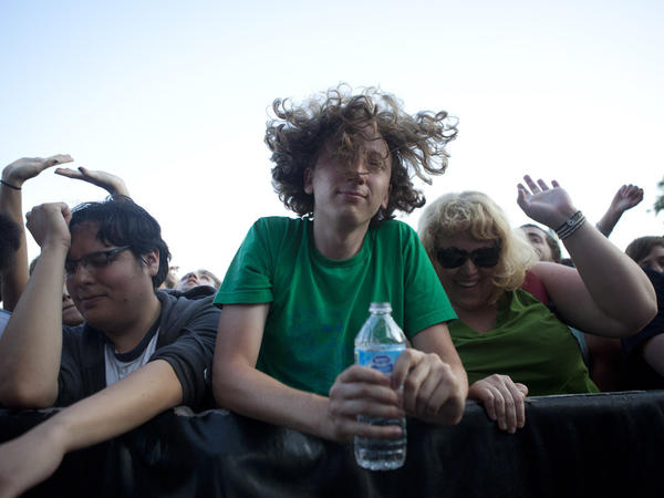 Concert goers dance to Hot Chip at the Pitchfork Music Festival in Union Park on Saturday, July 14, 2012 (Mike Rich/RedEye)