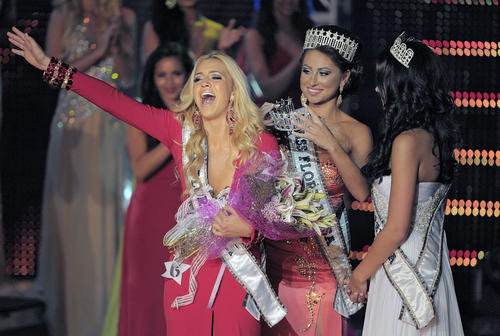 Hialeah native Michelle Aguirre, 19, is crowned Miss Florida USA.