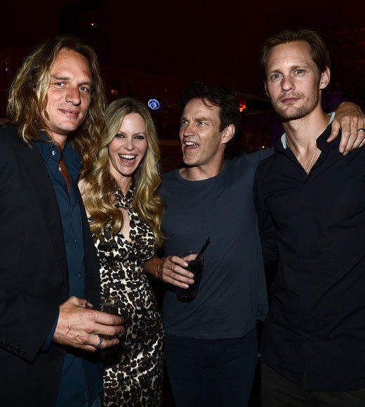 Celebs at Comic-Con 2012: Abri van Straten, Kristin Bauer van Straten, Stephen Moyer and Alexander Skarsgard