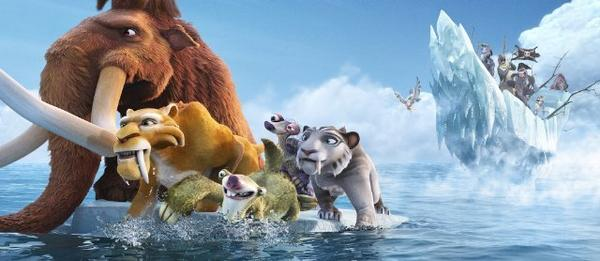"""Ice Age: Continental Drift"" was was not especially popular in the 3-D format, but the animated film was still No. 1 at the box office this weekend, and people who saw it gave an average grade of A-."
