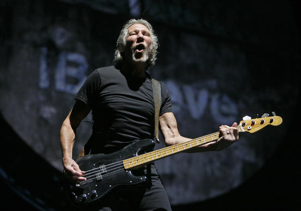 "Roger Waters performs ""The Wall"" at Citizens Bank Park in Philadelphia on July 14."