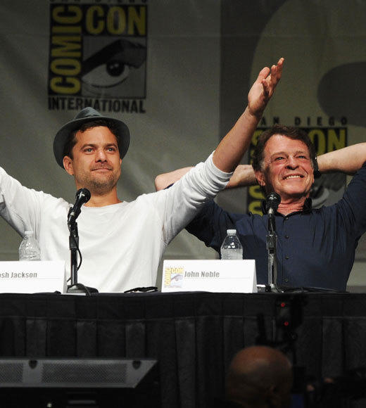 Celebs at Comic-Con 2012: Josh Jackson and John Noble
