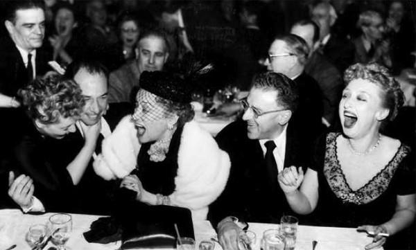 "Celeste Holm received an Oscar nomination for supporting actress for her role as Karen Richards in the 1950 film ""All About Eve."" Here, from left after the 1951 Academy Awards, are Judy Holliday, Jose Ferrer, Gloria Swanson, George Cukor and Holm."