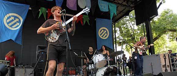 John Dwyer fronts the San Francisco band Thee Oh Sees during Pitchfork Music Festival in Union Park in Chicago on Sunday, July 15, 2012.