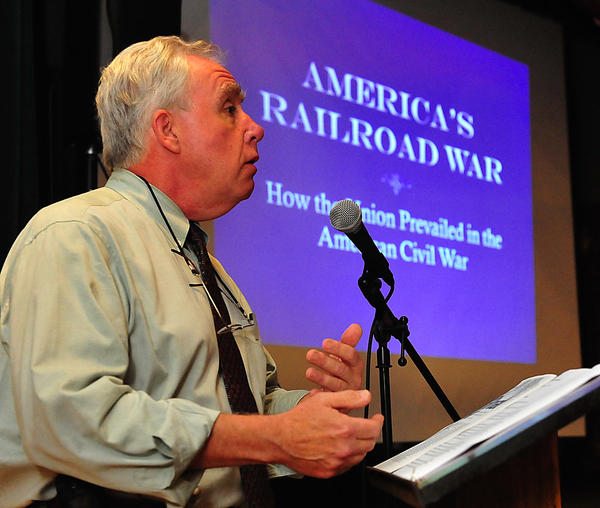John Hankey talks Sunday at the Washington County Museum of Fine Arts about how the Civil War and the nation's railroad industry evolved at the same time.