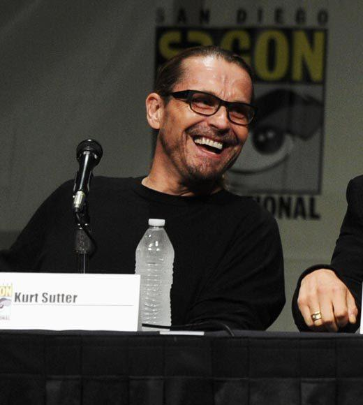 Overheard at Comic-Con 2012: You know Ron showed up there thinking that was the sequel. -- Kurt Sutter on Ron Perlmans Hellboy appearance for Make-a-Wish