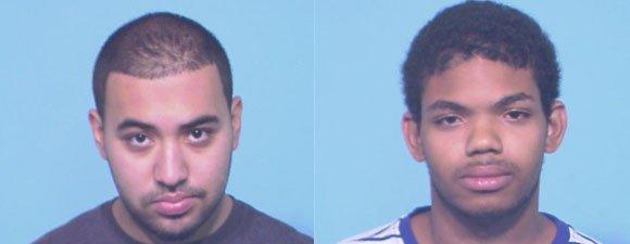 Mugshots of Nicholas Ayala (left), 17, and Anthony Malcolm, 18.