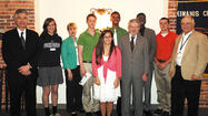 The Hagerstown Kiwanis Club awarded seven scholarships to graduating high school seniors at its May 10 meeting.