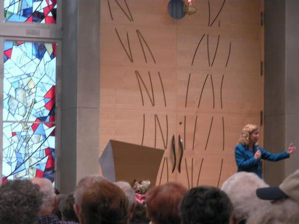 U.S. Rep. Debbie Wasserman Schultz speaks about President Barack Obama and Israel at Century Village in Pembroke Pines.