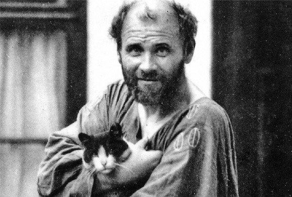 "Gustav Klimt, in a 1912 photograph from the book ""The Lady in Gold"" by Anne Marie O'Connor."