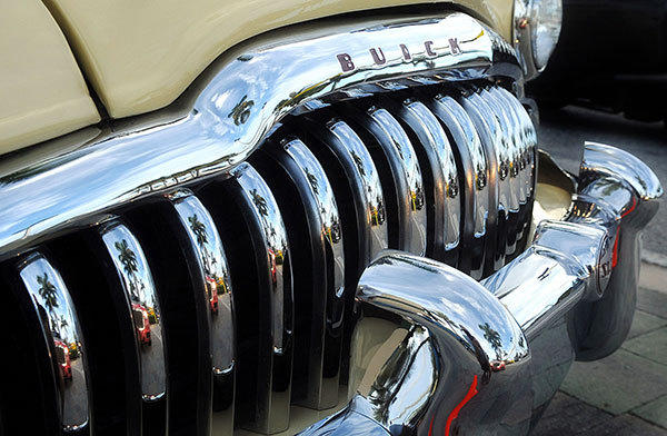 This is the grill of a 1949 Buick Super Convertible Sedan on display at the Classic Car Show in the parking lot of Gander Mountain in Palm Beach Gardens on Saturday, July 14th, 2012.