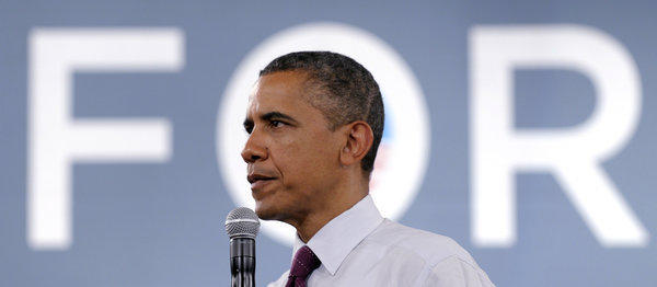 President Obama campaigns in Cincinnati.