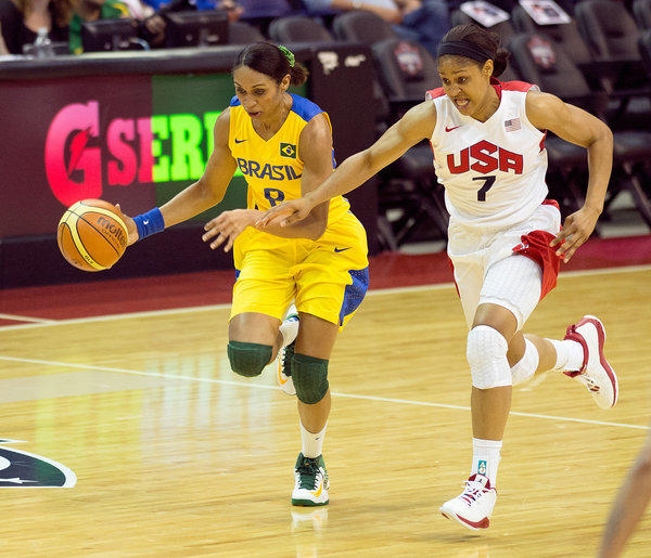 Maya Moore was one of six UConn players playing against Brazil Monday.