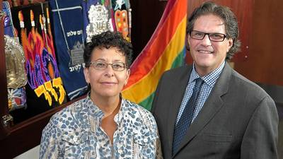 Gay congregation shares worship space with conventional synagogue