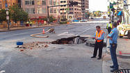 Water main break causes disruptions in downtown Baltimore