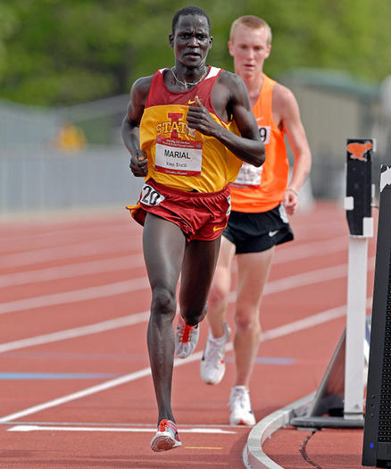 Guor Marial as an Iowa State runner.  (Iowa State University athletics)