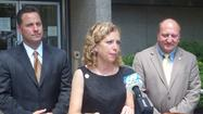 Stopping in Allentown, Pa. Tuesday afternoon, Democratic National Committee chairwoman U.S. Rep. <strong>Debbie Wasserman Schultz</strong> kept the heat on Republican presidential candidate <strong>Mitt Romney</strong> to release years worth of pre-2010 income tax returns.