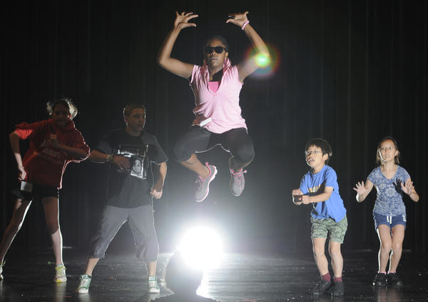 "Artists and dancers, singers teachers and students create ""Innervisions - The Extraordinary Life of Stevie Wonder"" choreographed by the National Dance Institute teacher Kay Gayner at the Carol Autorino Center for the Arts at the University of St. Joseph in West Hartford. The shows are at 5P.M. and 7P.M. Saturday."