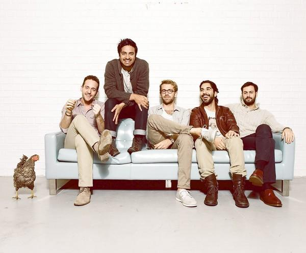 Francois Comtois, Sameer Gadhia, Jacob Tilley, Payam Doostzadeh and Eric Cannata of Young the Giant.