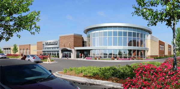 Rendering of a proposed Mariano's Fresh Market planned for Franfort