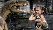Girl with baby Albertosaurus