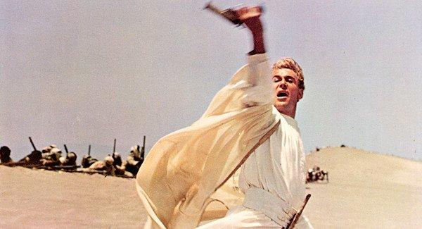 """Lawrence of Arabia"" opened in December 1962 and the 216-minute epic won Academy Awards for best picture, director, color art direction, color cinematography, editing, music and sound."