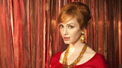 "Christina Hendricks as Joan Harris in AMC's ""Mad Men""."