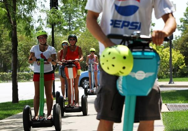 Chicago Segway Tours teaches people how to use the machines and then takes them along the lakefront to tour.